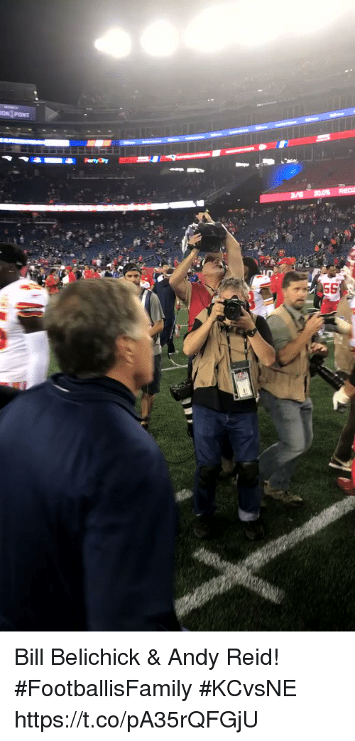 Andy Reid, Bill Belichick, and Memes: ON POINT Bill Belichick & Andy Reid! #FootballisFamily #KCvsNE https://t.co/pA35rQFGjU