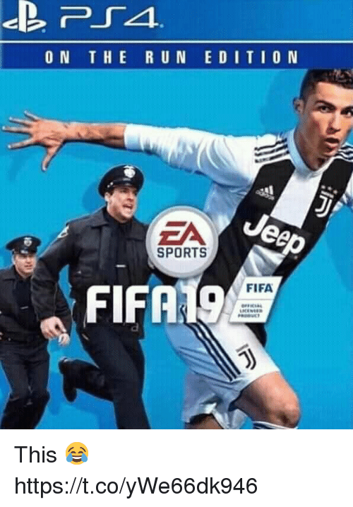 Fifa, Memes, and Sports: ON THE R UN EDITIO N  EA  SPORTS  FIFA19  FIFA This 😂 https://t.co/yWe66dk946