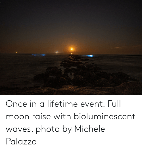 Moon: Once in a lifetime event! Full moon raise with bioluminescent waves. photo by Michele Palazzo