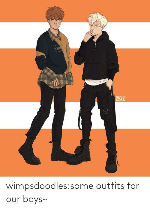 Los: ONDON NE  HOMM  OKYO LOS ANG  MCZK  ORIGINS wimpsdoodles:some outfits for our boys~