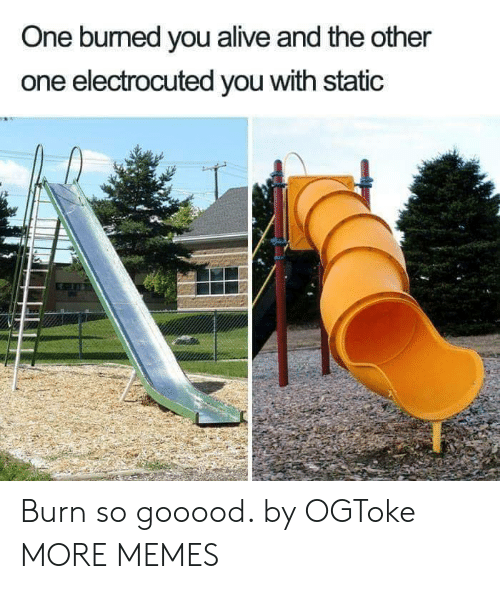 Alive, Dank, and Memes: One bumed you alive and the other  one electrocuted you with static Burn so gooood. by OGToke MORE MEMES