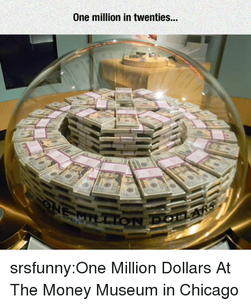 Chicago, Money, and Tumblr: One million in twenties... srsfunny:One Million Dollars At The Money Museum in Chicago