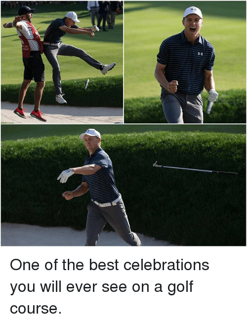 Memes, Best, and Golf: One of the best celebrations you will ever see on a golf course.