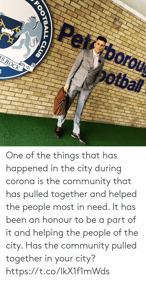 Been: One of the things that has happened in the city during corona is the community that has pulled together and helped the people most in need. It has been an honour to be a part of it and helping the people of the city.   Has the community pulled together in your city? https://t.co/IkX1f1mWds