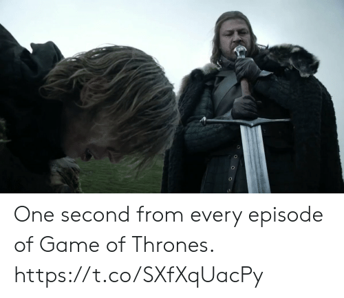 Game of Thrones, Memes, and Game: One second from every episode of Game of Thrones. https://t.co/SXfXqUacPy