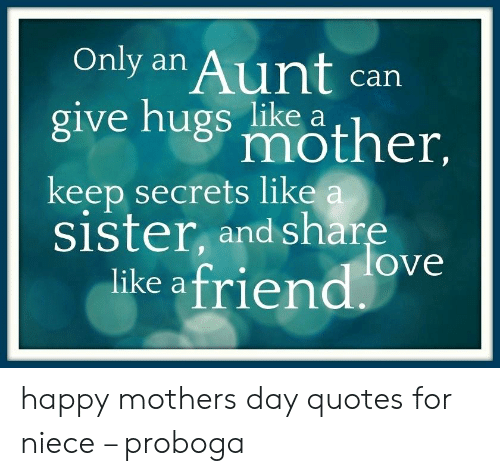Only an Aunt Can Give Nugs Mother Keep Secrets Like a Sister ...