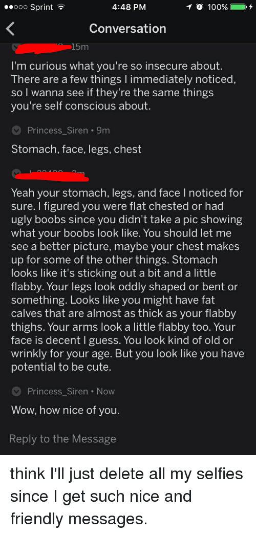 my boobs are ugly