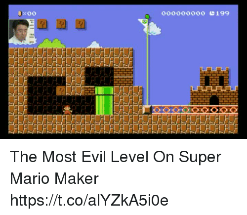 mario maker: OOOOOOOOO 199 The Most Evil Level On Super Mario Maker https://t.co/alYZkA5i0e
