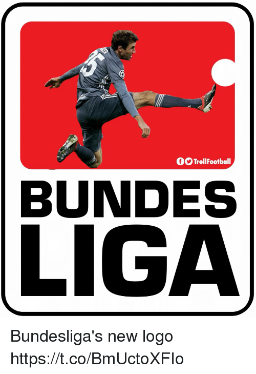 Memes, 🤖, and Logo: OOTrollFootball  BUNDES  LI Bundesliga's new logo https://t.co/BmUctoXFIo