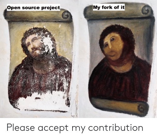 open source: Open source project  My fork of it Please accept my contribution