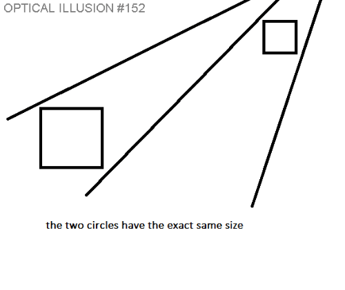 Optical Illusion: OPTICAL ILLUSION #152  the two circles have the exact same size