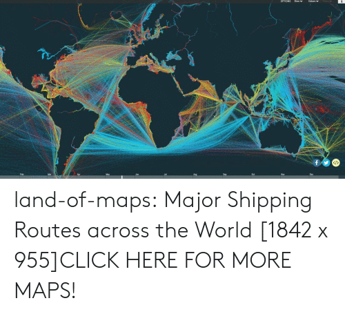 Oer: OPTIONS Show Colours v  Feb  Jun  Oer  Dec land-of-maps:  Major Shipping Routes across the World [1842 x 955]CLICK HERE FOR MORE MAPS!
