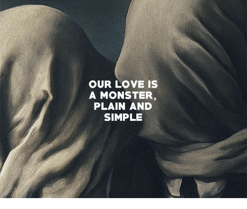 plain-and-simple: OUR LOVE IS  A MONSTER  PLAIN AND  SIMPLE