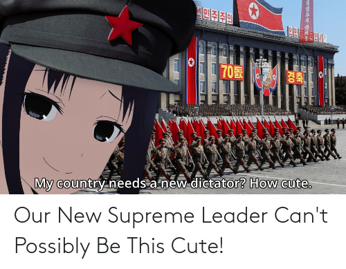 Possibly: Our New Supreme Leader Can't Possibly Be This Cute!
