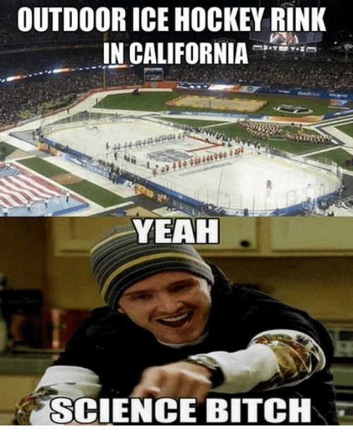 Bitch, Hockey, and Yeah: OUTDOOR ICE HOCKEY RINK  IN CALIFORNIA  YEAH  SCIENCE BITCH