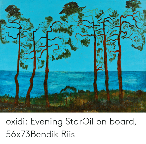 Tumblr, Blog, and Star: oxidi:  Evening StarOil on board, 56x73Bendik Riis