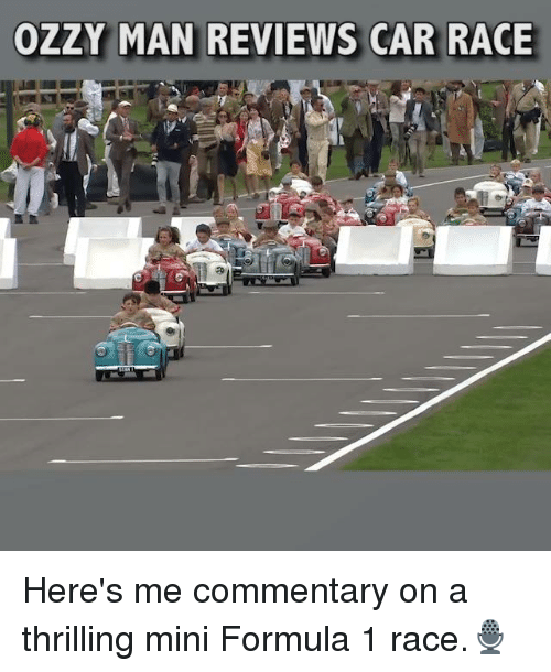 Commentary: OZ  AN REVIEWS CAR RACE Here's me commentary on a thrilling mini Formula 1 race.🎙