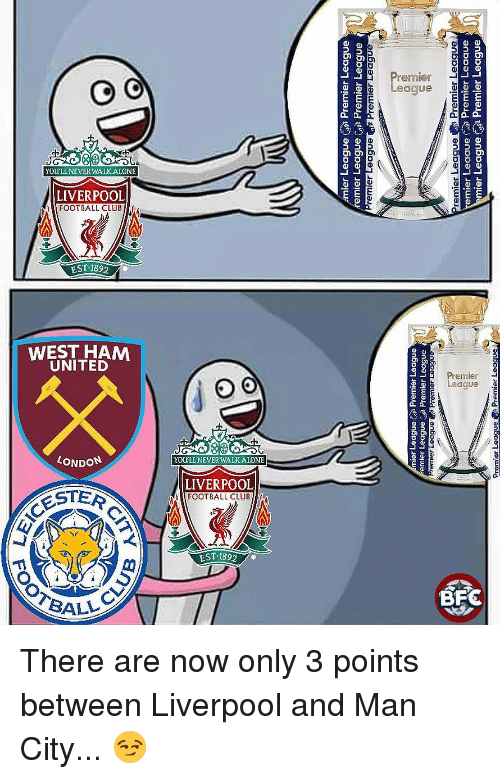 Memes, Liverpool F.C., and 🤖: Pa  an6  ry  9 There are now only 3 points between Liverpool and Man City... 😏