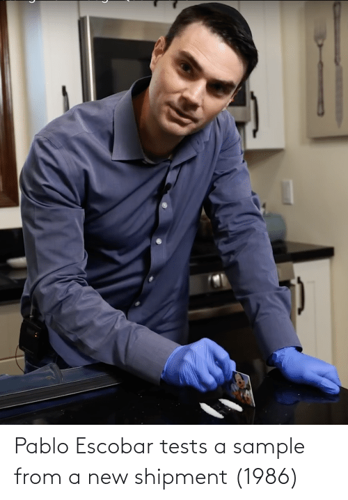 pablo: Pablo Escobar tests a sample from a new shipment (1986)