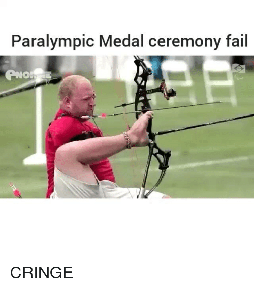Fail, Memes, and 🤖: Paralympic Medal ceremony fail CRINGE