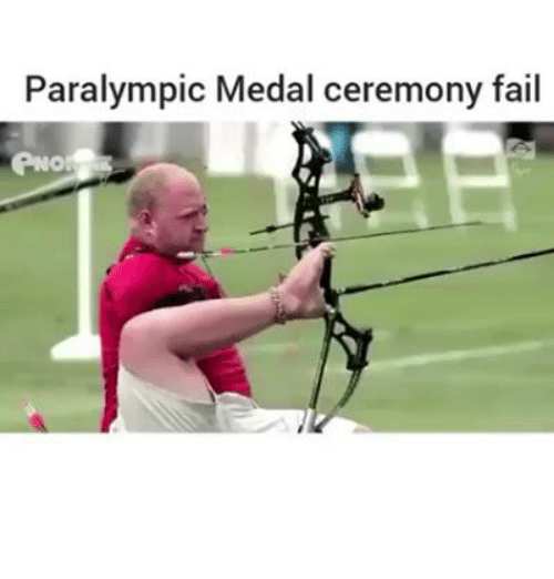 Fail, Video Games, and Paralympics: Paralympic Medal ceremony fail  PNO