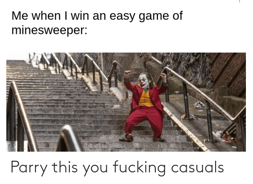 Fucking Casuals: Parry this you fucking casuals