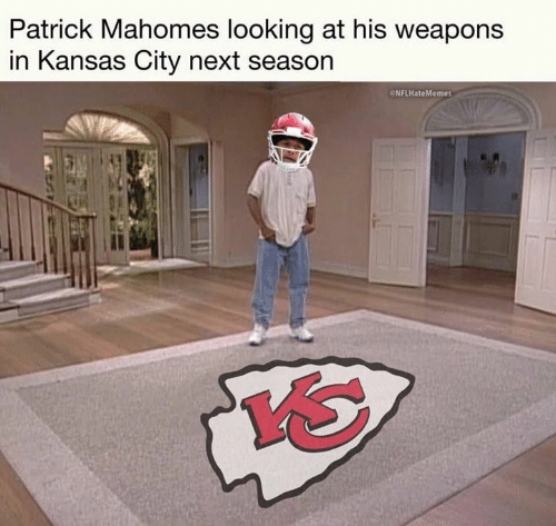 Next Season: Patrick Mahomes looking at his weapons  in Kansas City next season  eNFLHateMemes