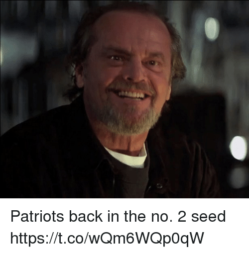 Patriotic, Tom Brady, and Back: Patriots back in the no. 2 seed https://t.co/wQm6WQp0qW