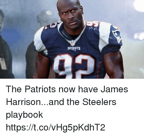 Football, Nfl, and Patriotic: PATRIOTS The Patriots now have James Harrison...and the Steelers playbook https://t.co/vHg5pKdhT2