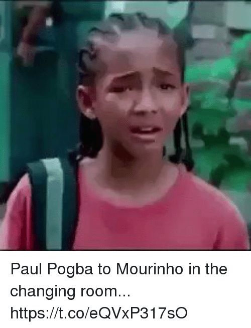 Soccer, Paul, and Paul Pogba: Paul Pogba to Mourinho in the changing room... https://t.co/eQVxP317sO