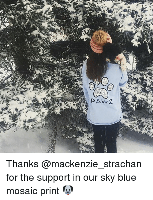 mackenzie: PAW Thanks @mackenzie_strachan for the support in our sky blue mosaic print 🐶