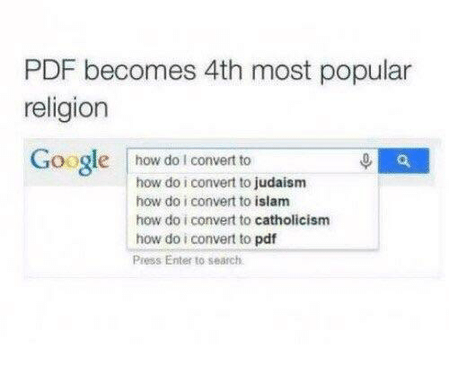 Islam: PDF becomes 4th most popular  religion  Googlehow do I convert to  how do i convert to judaism  how do i convert to islam  how do i convert to catholicism  how do i convert to pdf  Press Enter to search