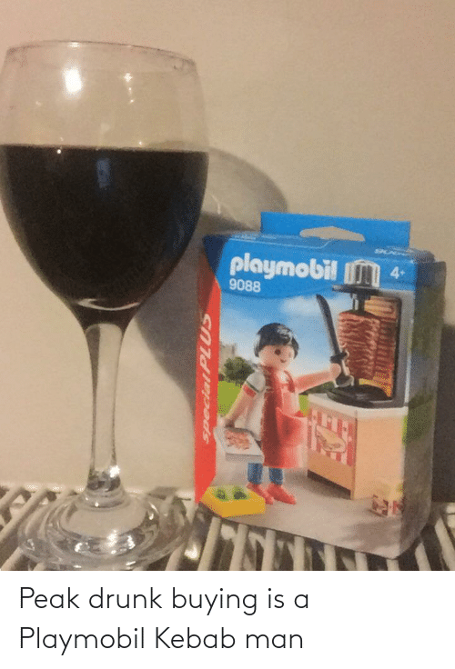 Buying: Peak drunk buying is a Playmobil Kebab man