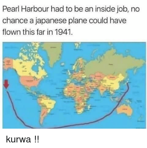 Polandball: Pearl Harbour had to be an inside job, no  chance a japanese plane could have  flown this far in 1941 kurwa !!