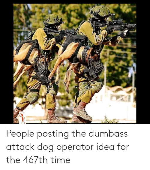 Operator: People posting the dumbass attack dog operator idea for the 467th time