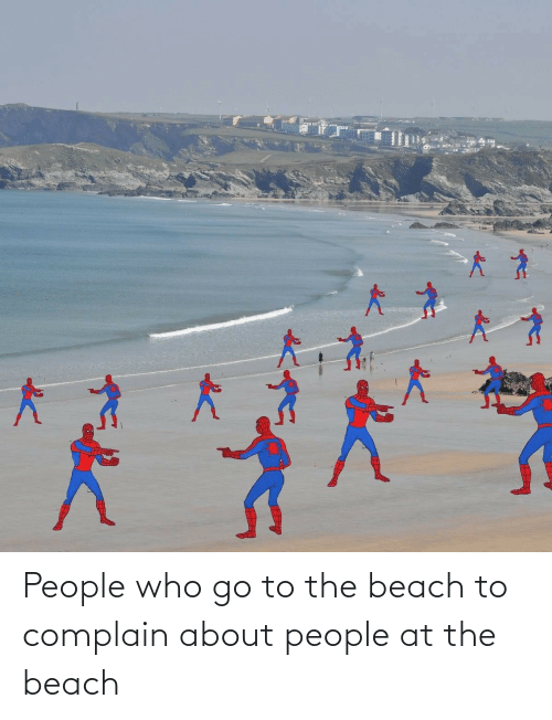 People Who: People who go to the beach to complain about people at the beach