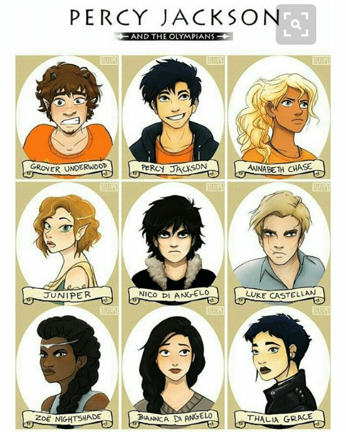 Percy Jackson And The Olympians Grover Underwood Percy
