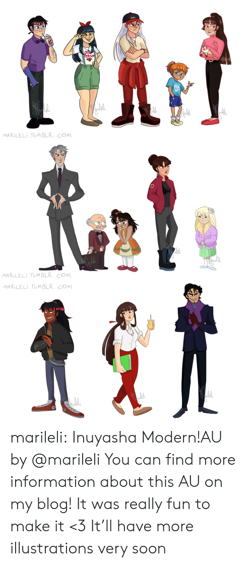 Soon..., Target, and Tumblr: PERS  FOX  SAY?  MARILELI TUMBLR.COM   MARILELI TUMBLR. COM   MARILELI TUMBLR. COM marileli:  Inuyasha Modern!AU by @marileliYou can find more information about this AU on my blog! It was really fun to make it <3 It'll have more illustrations very soon