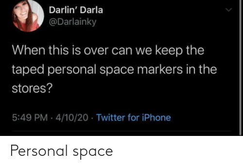 Space: Personal space