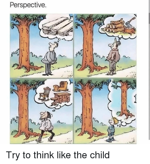 Think, Perspective, and Child: Perspective Try to think like the child