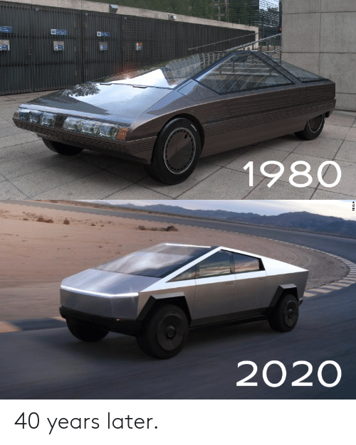 Years Later: Ph4  1980  2020  TESLA 40 years later.