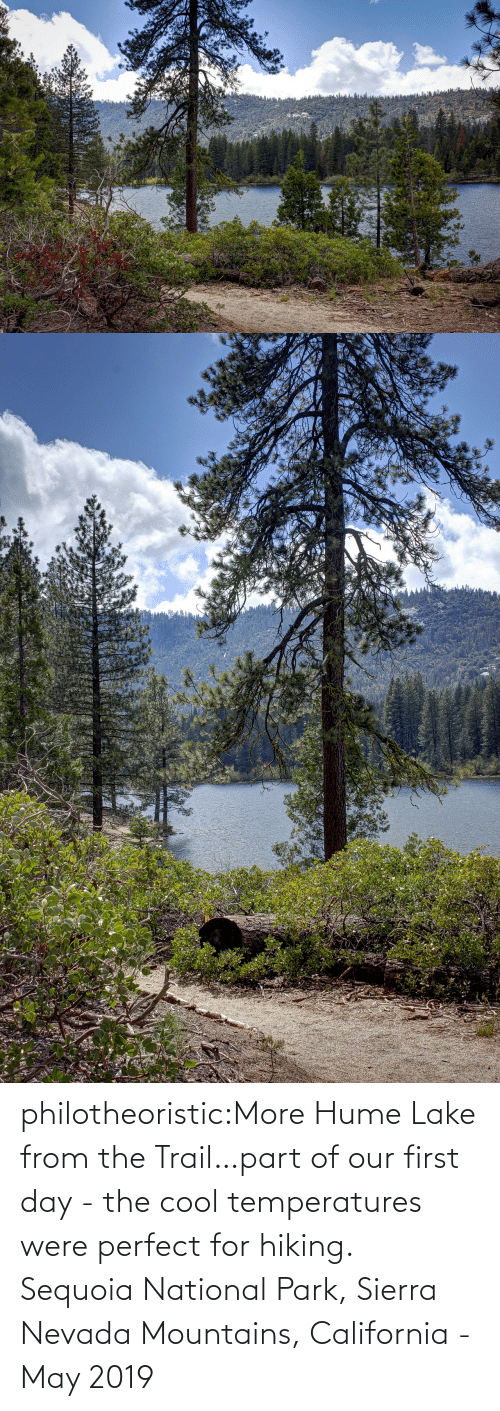 sierra: philotheoristic:More Hume Lake from the Trail…part of our first day - the cool temperatures were perfect for hiking.  Sequoia National Park, Sierra Nevada Mountains, California - May 2019
