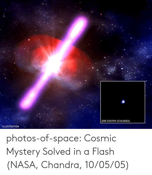 Mystery: photos-of-space:  Cosmic Mystery Solved in a Flash (NASA, Chandra, 10/05/05)