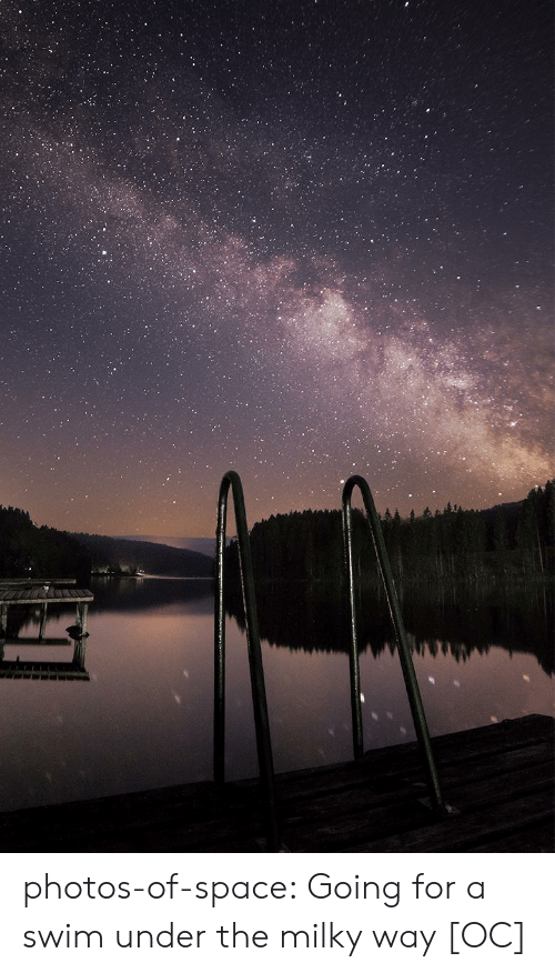 Milky Way: photos-of-space:  Going for a swim under the milky way [OC]