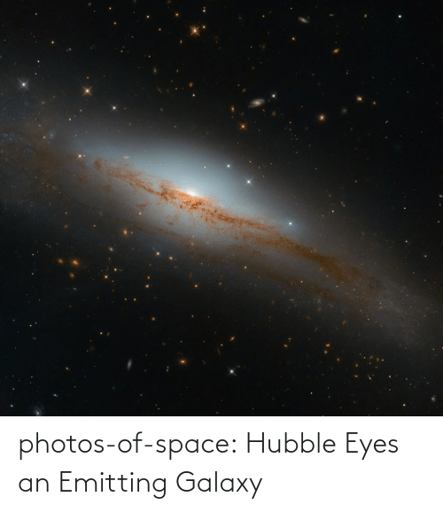 galaxy: photos-of-space:  Hubble Eyes an Emitting Galaxy
