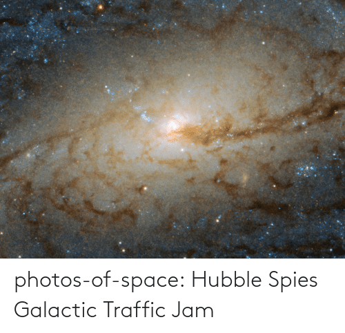 jam: photos-of-space:  Hubble Spies Galactic Traffic Jam