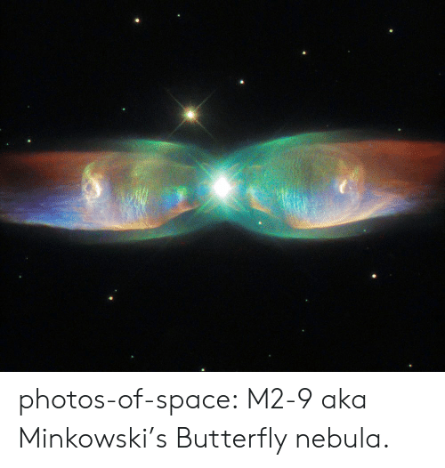 aka: photos-of-space:  M2-9 aka Minkowski's Butterfly nebula.