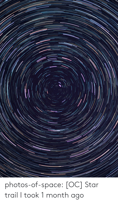Trail: photos-of-space:  [OC] Star trail I took 1 month ago