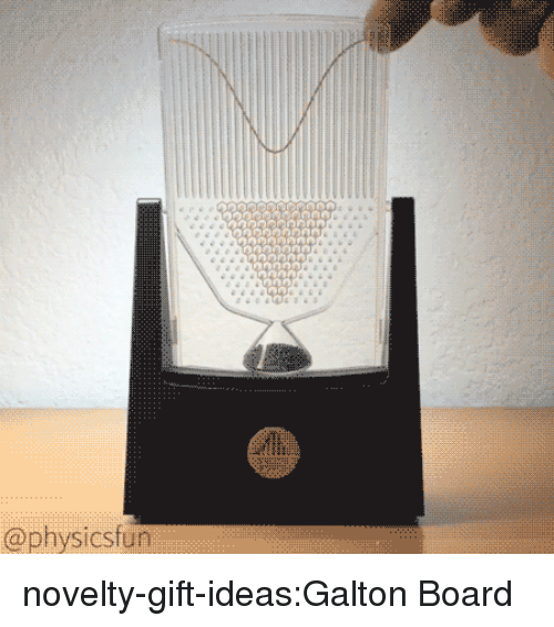 Tumblr, Blog, and Board: @physicsfun novelty-gift-ideas:Galton Board