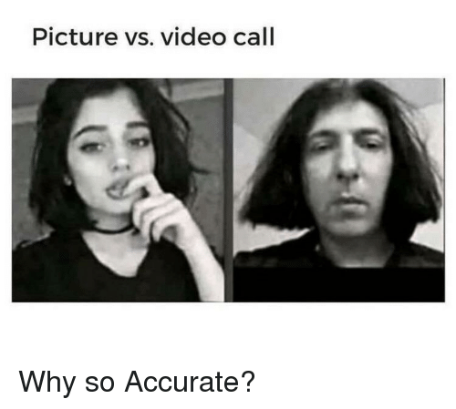 Video, Why, and Picture: Picture vs. video call Why so Accurate?
